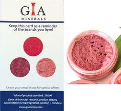 GIA Minerals mineral blush in Splendid Rose rv $18
