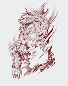 japanese bodysuit tattoos - Welcome My Home Foo Dog Tattoo Design, Tiger Tattoo Design, Sketch Tattoo Design, Tattoo Sleeve Designs, Tattoo Designs Men, Japanese Tiger Tattoo, Japanese Tattoo Designs, Japanese Sleeve Tattoos, Irezumi Tattoos