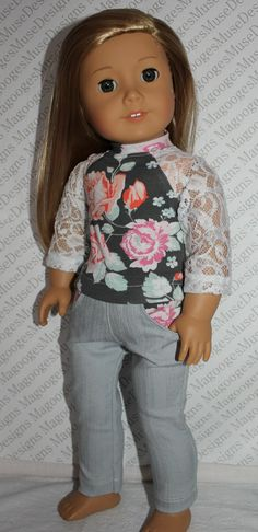 18 inch doll clothes white lace sleeve by magoogesmusedesigns