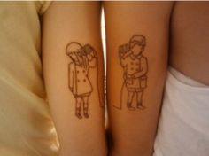 2017 trend Friend Tattoos - For a boy and girl that are best friends! How cool!...