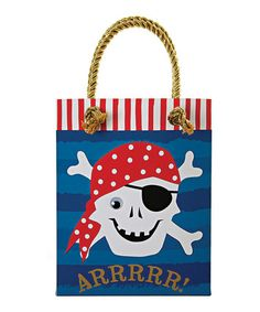 Loving this Ahoy There Pirate Party Bag - Set of Eight on #zulily! #zulilyfinds