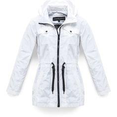 Marc New York � Tibby � Tech Raincoat (105 CAD) ❤ liked on Polyvore featuring outerwear, coats, cloth & rain, white, mac coat, white rain coat, white raincoat, marc new york coats and rain coat