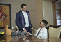 "Terrence Howard and Bryshere Gray play Lucious and Hakeem on ""Empire."""