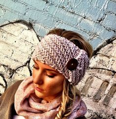 knitted headband. cuteness