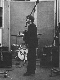 During the early days of the Beatles, Ringo Starr often traveled with a camera and took photos of the group behind the scenes, from rehearsi. Les Beatles, John Lennon Beatles, Ringo Starr, Bobby George, Barbara Bach, John Lennon Paul Mccartney, The Ed Sullivan Show, Beatles Photos, The Fab Four