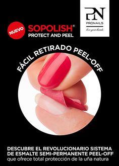 #Esmaltado #Sopolish Protect and Peel Extra-protección de tu uña y un fácil retirado sin disolventes