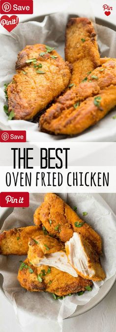 The Best Oven-Fried Chicken - Ingredients  Meat  3 Chicken breasts  Baking & Spices  1 cup Flour  2 tsp Paprika   tsp Pepper   tsp Salt  1 tbsp Seasoning salt  Bread & Baked Goods   cup Panko breadcrumbs  Dairy  4 tbsp Butter #delicious #diy #Easy #food #love #recipe #recipes #tutorial #yummy @mabarto - Make sure to follow cause we post alot of food recipes and DIY we post Food and drinks gifts animals and pets and sometimes art and of course Diy and crafts films music garden hair and beauty…