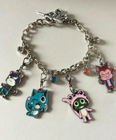 Fairy Tail (Happy, Lily, Frosch, Lector) Anime Charm Bracelet in Collectibles | eBay