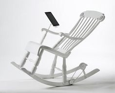 iPod, iPad and iPhone are one of the most popular if not the most popular gadgets today. Every i-user wants some additional gadgets and pieces for his or Chair Design, Furniture Design, Blog Deco, Cool Chairs, Cool Gadgets, Inventions, Outdoor Chairs, Dining Chairs, Nerd