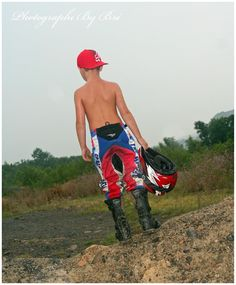 Photographi By Bri  Mini dirt bike rider Chase is 7 years old