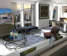 Langham Place, en Nueva York, presenta las suites de Roches Bobois. #NuevaYork #travel #trip #viaje #suite