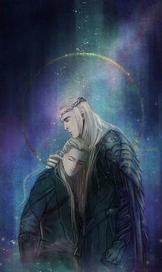Kinko-White Thranduil and Legolas (this is my current lock screen)