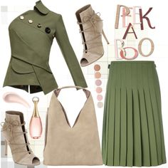 Lace It Up by jelena-880 on Polyvore featuring moda, A.W.A.K.E., Le Kilt, Gianvito Rossi, INZI, Soap & Glory, Christian Dior, Deborah Lippmann and laceup