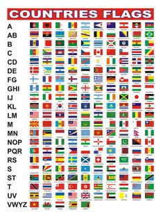 Illustration about Flags of 205 countries with alphabet. Illustration of world, countries, emblem - 13821928 Countries And Flags, Countries Of The World, All World Flags, Flags With Names, Early Childhood Centre, International Flags, Flag Coloring Pages, Primary Activities, World Thinking Day