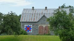 Barn Quilts, Weathervane, in Otterville, Ontario Canada