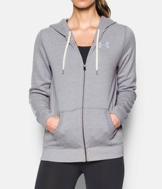 Women's UA Favorite Fleece Full Zip, Midnight Navy/White