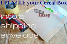 http://www.adventuresinfluff.com/2012/07/how-to-upcycle-cereal-box-into-shipping.html?m=1
