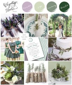 Inspiration Board | Rosemary + Lavender Wedding - Rosemary was used in ancient weddings and is a sign of love and faithfulness, perfect!