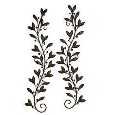The DecMode Leaves with Berries on Branches Wall Sculpture - Set of 2 is living filigree. The set includes two iron scrollwork designs with gracefully. Wall Decor Set, Metal Wall Decor, Metal Wall Art, Iron Wall, Wall Decorations, 3d Wall Art, Wall Décor, Medallion Wall Decor, New Wall