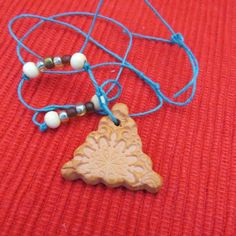 CLAY TRIANGLE DIFFUSING NECKLACE/CAR OR ROOM AIR FRESHENER