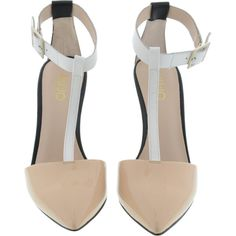 656b25f16c 4 LIU JO T-BAR MARYLIN PUMP SHOE CREM+IVORY (€83)