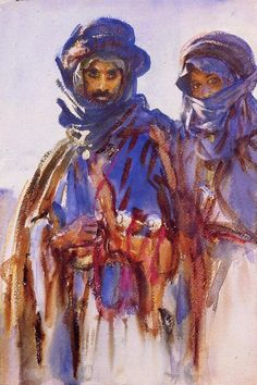 John Singer Sargent - Bedouins, 1906  I think Sargent is my favorite painter. He is a master of light and color. Everything he paints is so beautiful and energetic.