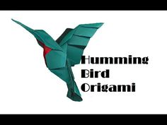 How to make an origami hummingbird - The Paperdashery