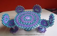 Mini Table & Chair set, quilled table chair, quilled miniature, quilling
