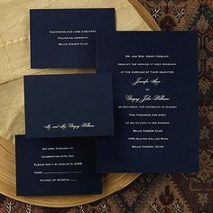 Unforgettable - Navy Wedding Invitation in different colors, however I love how simple it is, yet how elegant and sophisticated.