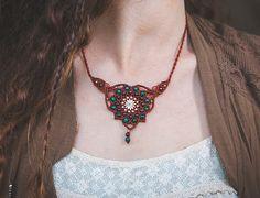 Macrame Jewelry spiritual Mandala necklace. by MacrameLoveJewelry