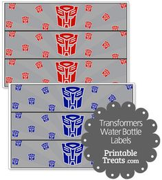 Transformers Water Bottle Labels from PrintableTreats.com
