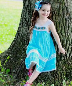Sky Blue Nathaly Ibiza Dress - Infant, Toddler & Girls | Daily deals for moms, babies and kids