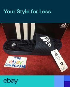895eb315d Adidas voloossage Mens Flip Flops Sandals AQ2651 Navy Blue Size 9-12 NIB