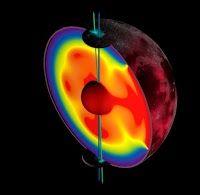 Earth's moon wandered off axis billions of years ago