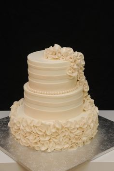 Ruffles! By sugarpixy on CakeCentral.com.  This looks like a ton of work for an amazing effect!