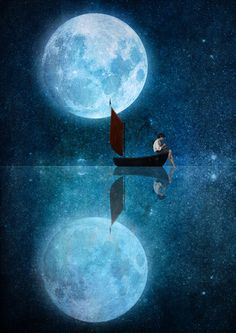 The Moon and Me Art Print by Diogo Verissimo