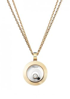 Chopard Pendant Happy Spirit Pendant 18-karat rose gold, 18-karat white gold and diamond