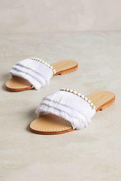 Mystique Fringe Slide Sandals