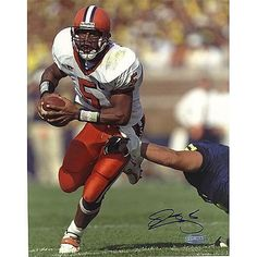 """Steiner Sports Donovan McNabb Syracuse Eluding Tackle Autographed 8"""" x 10"""" Photograph"""