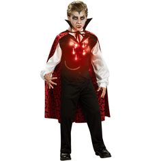 Lite-Up Vampire Child Costume