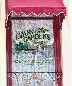 Windows on Main Street, U.S.A., at Disneyland Park: Bill Evans