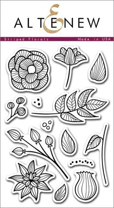 We know how much you love florals, so we are adding to our collection with this set of modern floral images!  They are fun to color, and will help you create beautiful arrangements for your cards, scrapbooks, and projects!