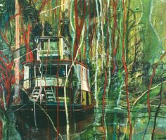 Peter Doig (British, b. 1959), Okahumkee (Some other people's Blues), 1990. Oil on canvas, 204 × 241 cm.
