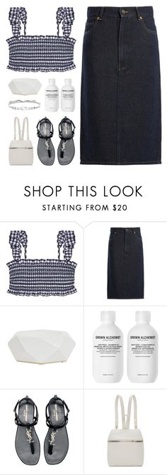 """""""#1253 Too Little Too Late, Jojo"""" by blendasantos ❤ liked on Polyvore featuring Tory Burch, Raey, Jayson Home, Yves Saint Laurent, Kara, Jenny Packham, BeachPlease and vacayoutfit"""