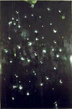 """ROSS BLECKNER, KNIGHTS NOT NIGHTS, 1987, OIL AND WAX ON CANVAS, 108"""" X 72"""""""