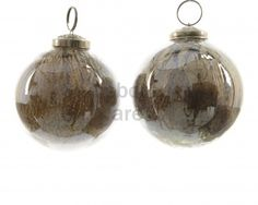 Truffle and Sand Glass Bauble, 2a @ gainsboroughgiftware.com