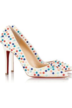 Christian Louboutin | Pigalle Spikes 100 leather pumps | NET-A-PORTER.COM