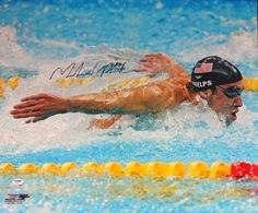 Michael Phelps Autographed 20x24 Photo Team USA PSA/DNA Stock #83624