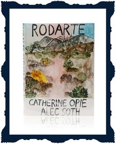 A large coffee table book filled with never-before-seen imagery from the Rodarte sisters, Kate and Laura Mulleavy, entitled Rodarte, Catherine Opie, Alec Soth. Features hand-painted covers by the artist Rebekah Miles.