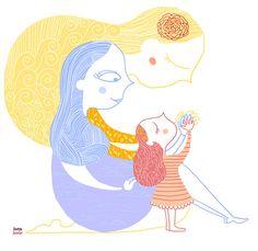 Crescere, disegno per il blog Mammadiludovica